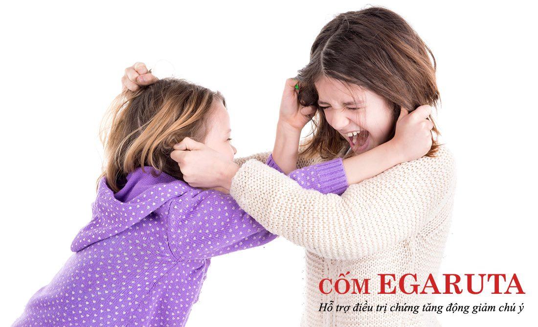 Trẻ tăng động có rối loạn hành vi chống đối thường gây gổ, đánh nhau